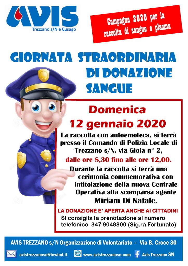 Giornata donazione vigili 2020